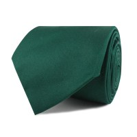 Emerald Green Cotton Necktie | Tie Ties Thick Wide Normal ...