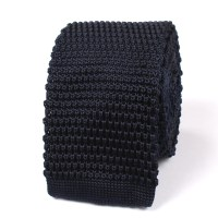 Navy Blue Knitted Tie | Knit Ties Knits Necktie Neckties ...