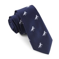 Navy Blue Race Horse Skinny Tie | Slim Thin Ties Neckties ...