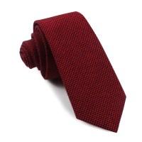 Red & Black Houndstooth Cotton Skinny Tie | Slim Thin Ties ...