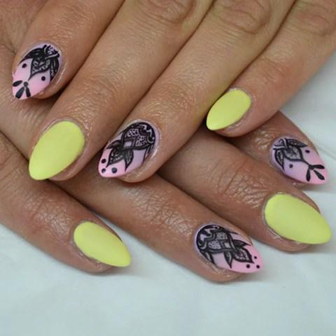 henna tattoo nail art - light elegance
