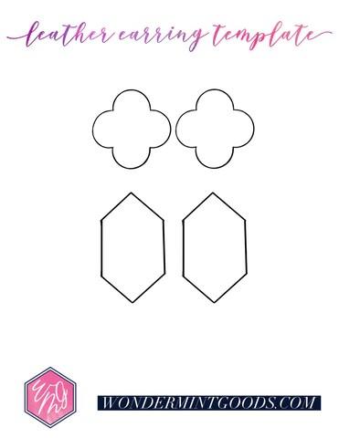 Faux Leather Earring Template : leather, earring, template, Leather, Earrings:, Earrings, Without, Cricut, Wondermint, Goods