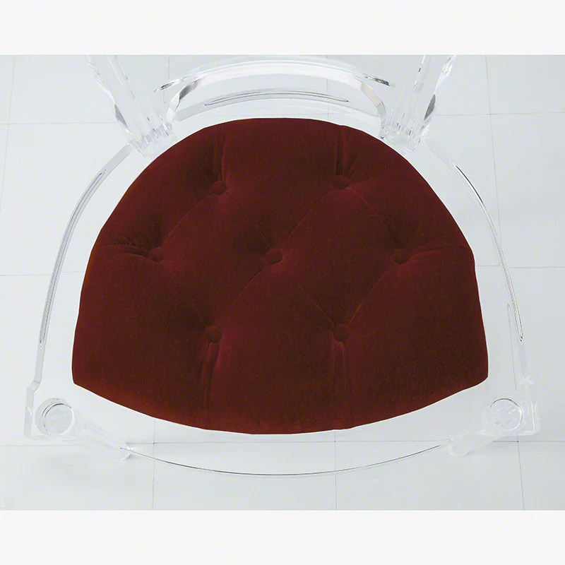 acrylic side chair with cushion big round marilyn red pepper grats decor interior