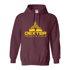 Dexter Track '15 | Classic Hoodie | Maroon | 18500