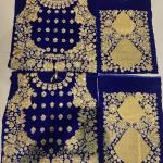 Royal Blue Velvet Heavy Embroidery Work Indian Bridal Lehenga With Pri Indian Dresses