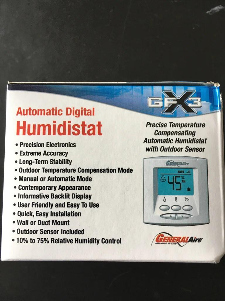 medium resolution of  generalaire gfx3 automatic digital humidistat white
