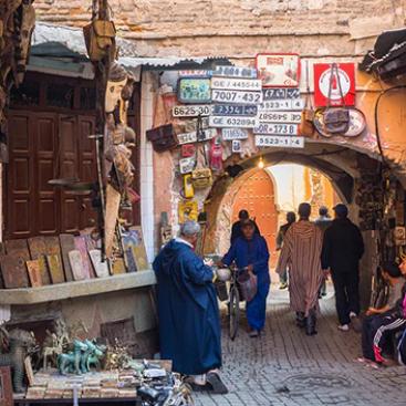 small allays in the medina of marrakech