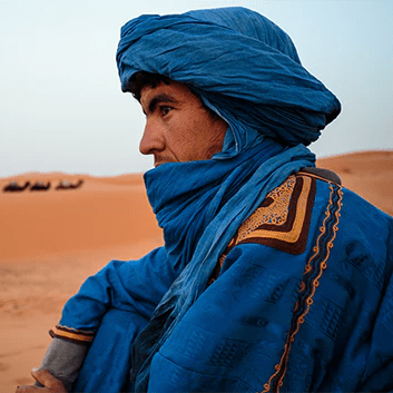 moroccan berber in the desert