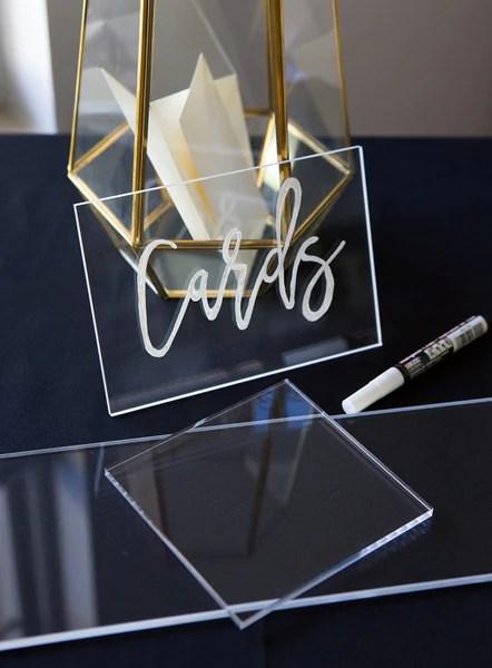 Clear Acrylic Pieces for DIY Wedding  Z Create Design