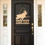 Halloween Door Sign Custom Sign Door Decor Scary Witch Halloween De Z Create Design
