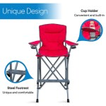 Rms Outdoors Extra Tall Folding Chair Bar Height Director