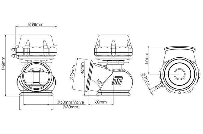 external wastegate diagram 1999 ford expedition front suspension turbosmart power gate 60mm fswerks 7
