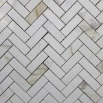 Calacatta Gold Marble Herringbone Mosaic Tiles Rocky Point Tile Online Tile Store