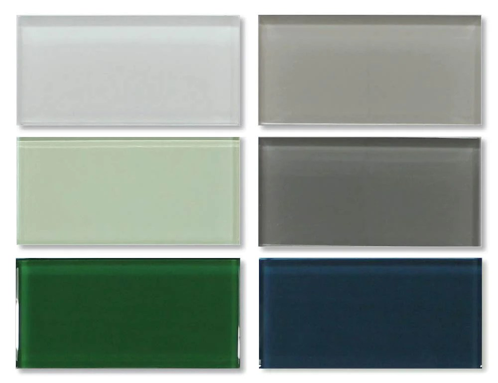 3x6 glass subway tiles combo pack variety colors