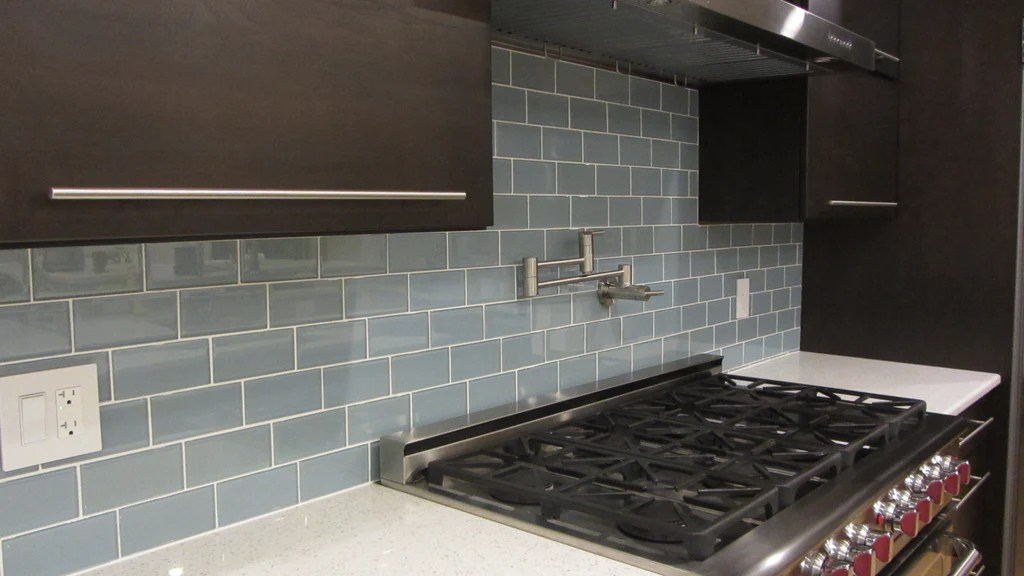 Jasper Blue Gray 3x6 Glass Subway Tiles  Rocky Point Tile  Glass and Mosaic Tile Store
