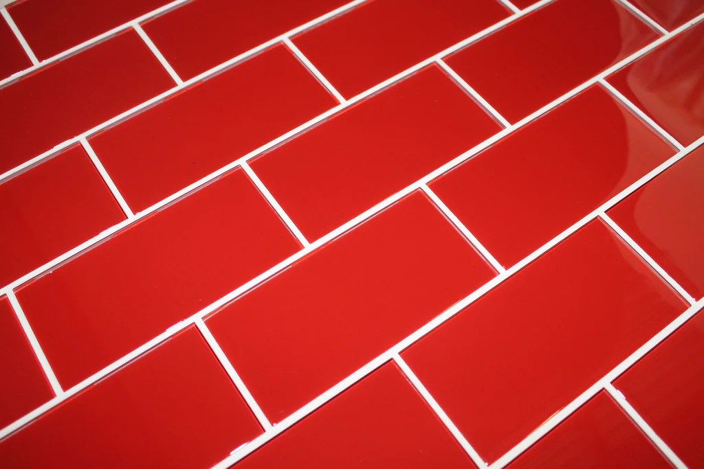 passion red 3x6 glass subway tiles