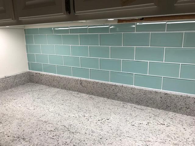 seafoam 3x6 glass subway tiles