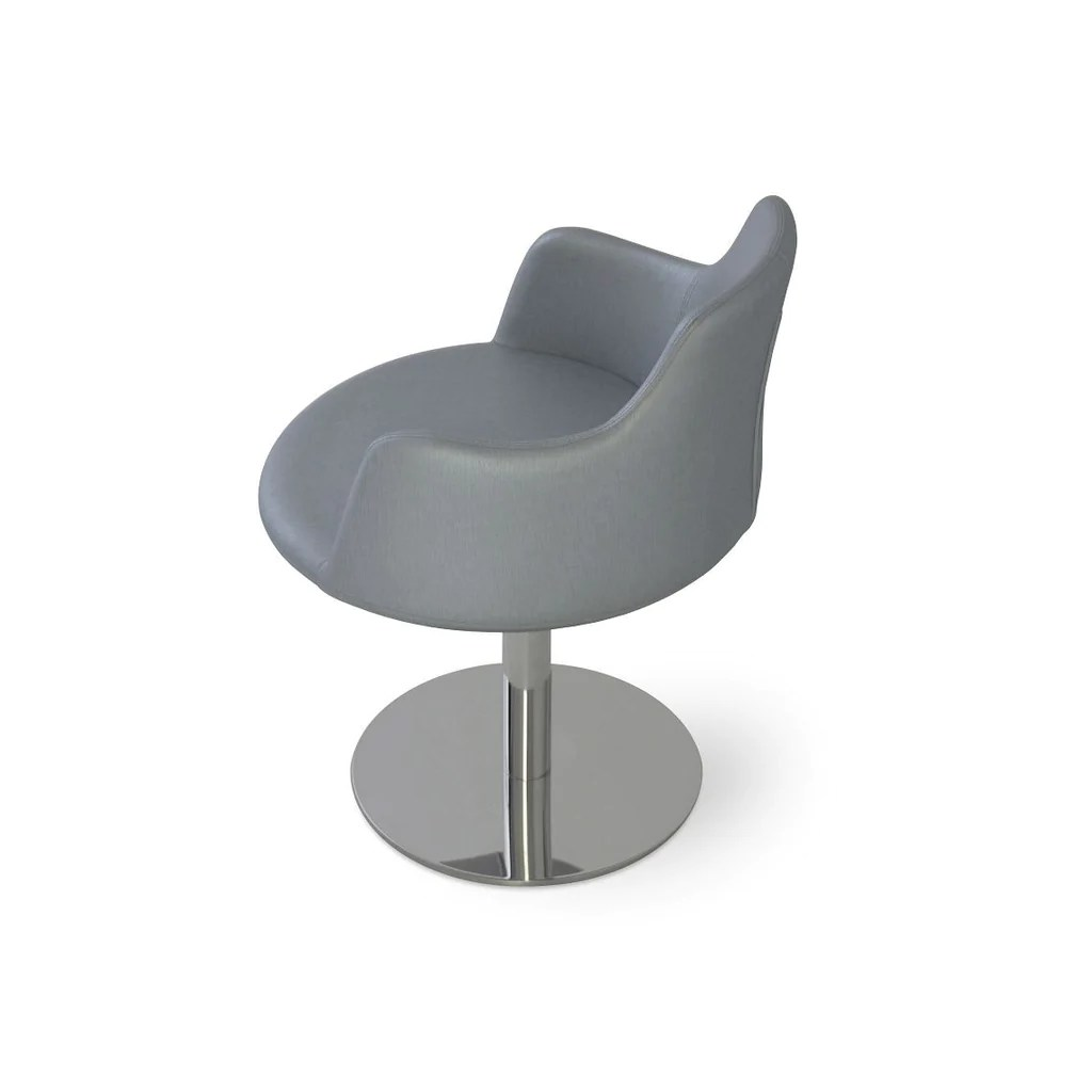 round base chair stackable plastic chairs sohoconcept dervish swivel 2bmod
