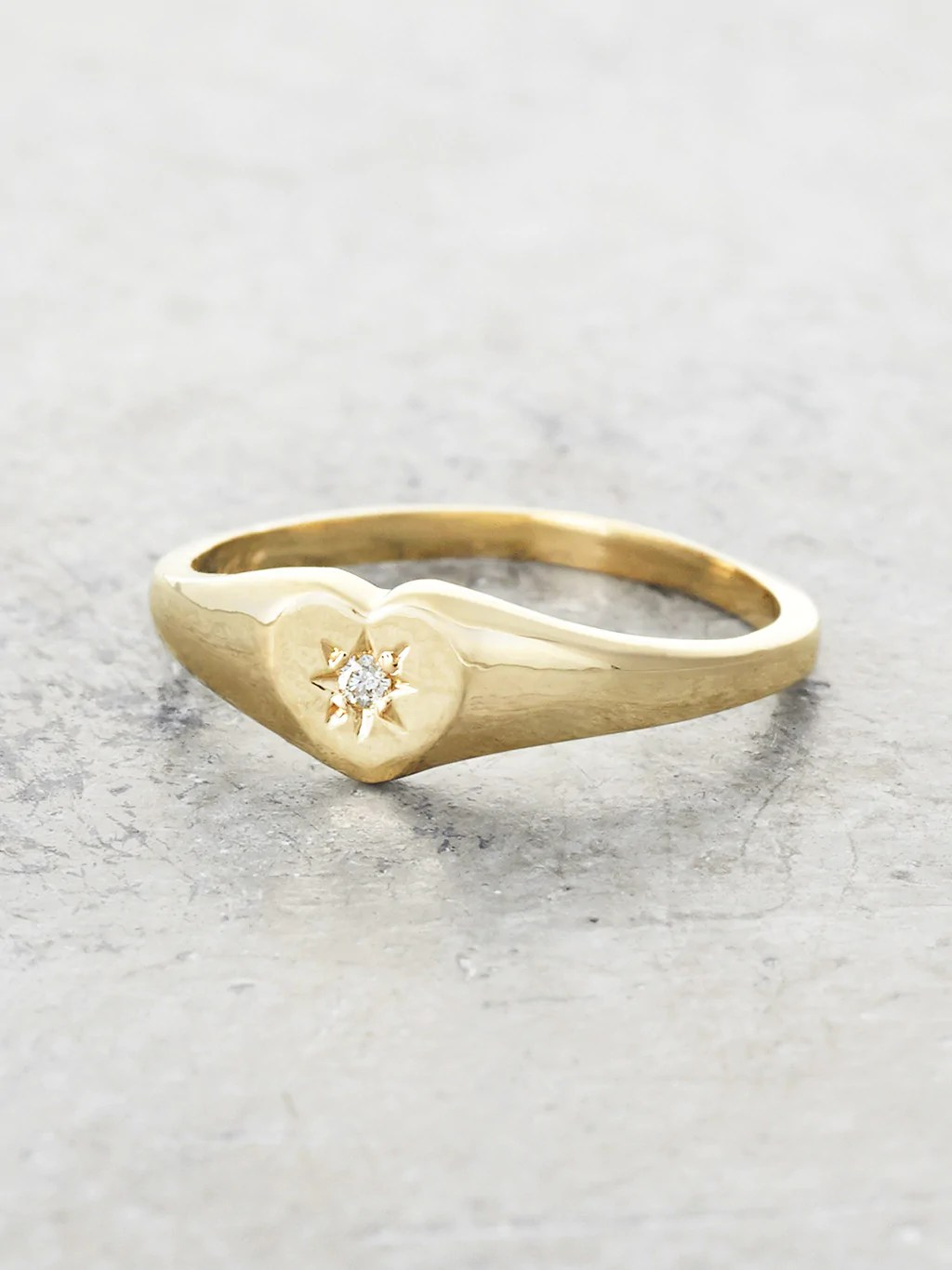 Gold Baby Signet Ring