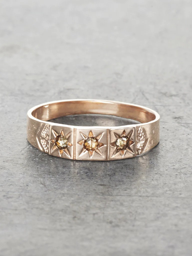 Gypsy Star Champagne Diamond Band LUNESSA