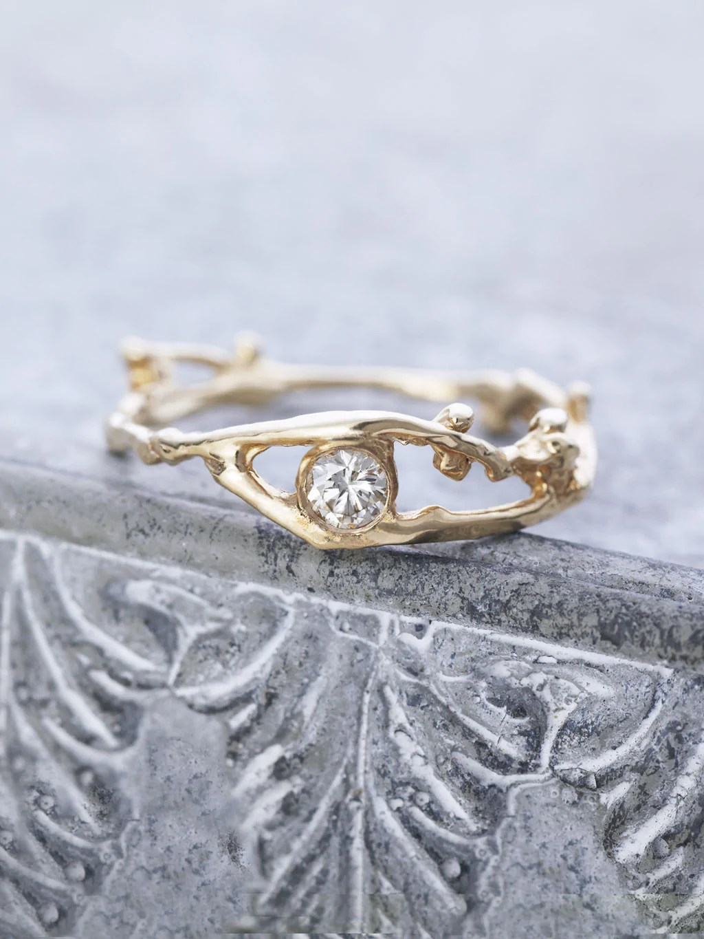 14K Fairy Diamond Branch Ring LUNESSA