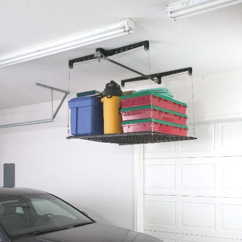 Pulley System Storage Rack For Garage  OddGiftscom