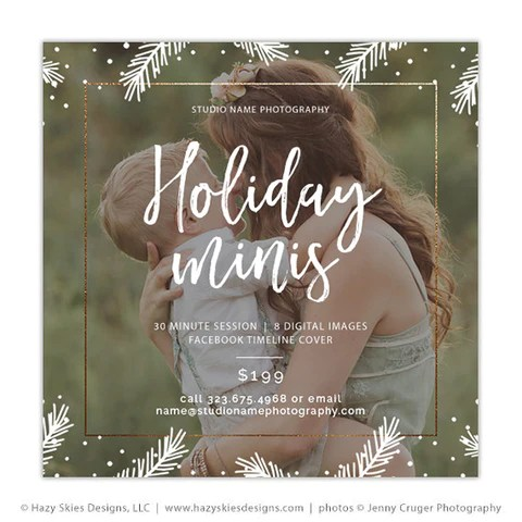 Mini Session Template Holiday Minis