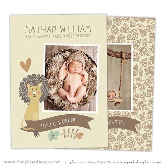 Birth Announcement Template Photoshop Boy Newborn Baby – Photoshop ...