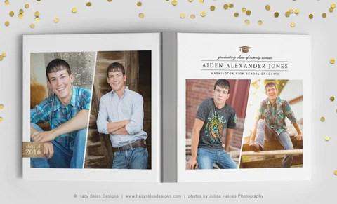 senior photo card templates