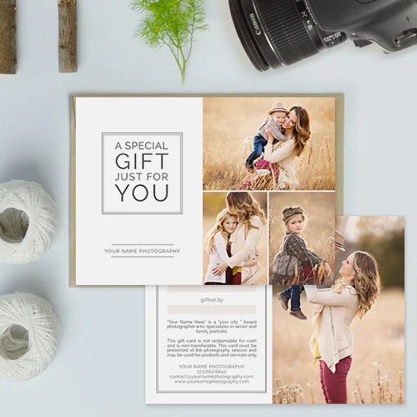 Photography Studio Gift Certificate Templates  Gift Me
