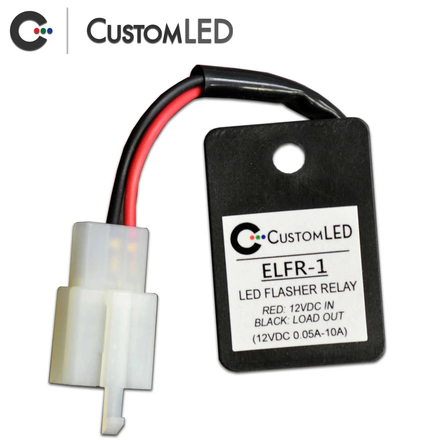 elfr 1 electronic led flasher relay with oem connector [ 1500 x 1500 Pixel ]