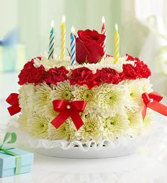 Birthday Flower Cake Country Elegance Florists