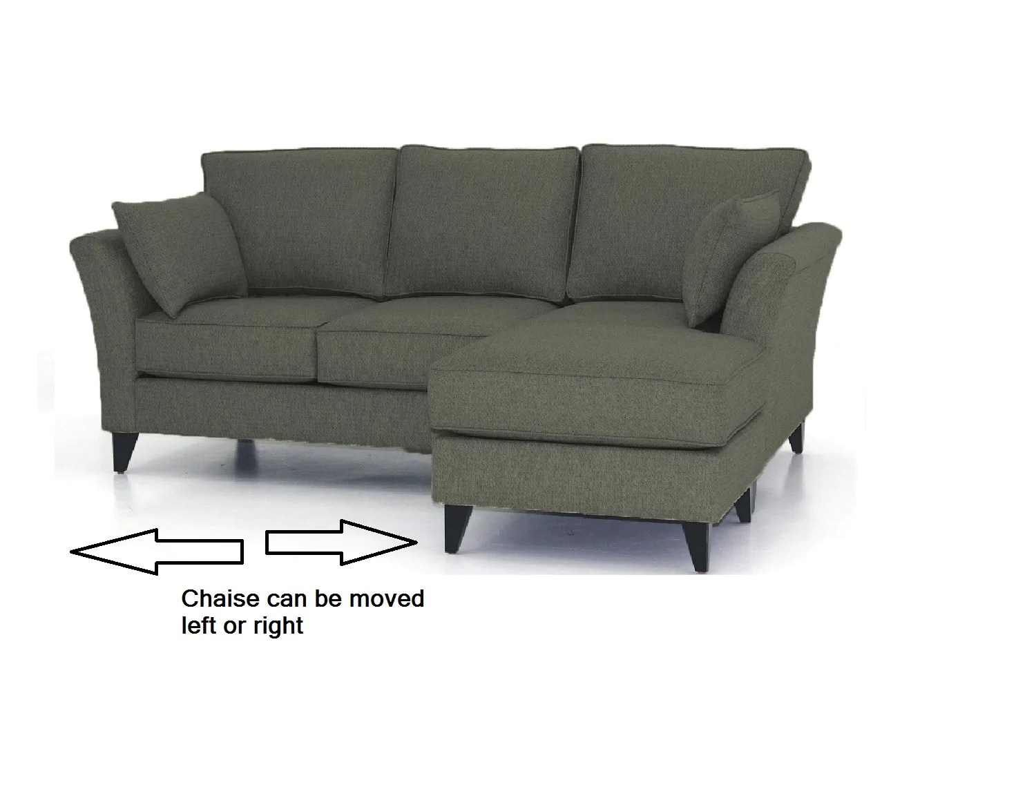 hayden sectional sofa with reversible chaise spring clip strip aria urban fusion decor