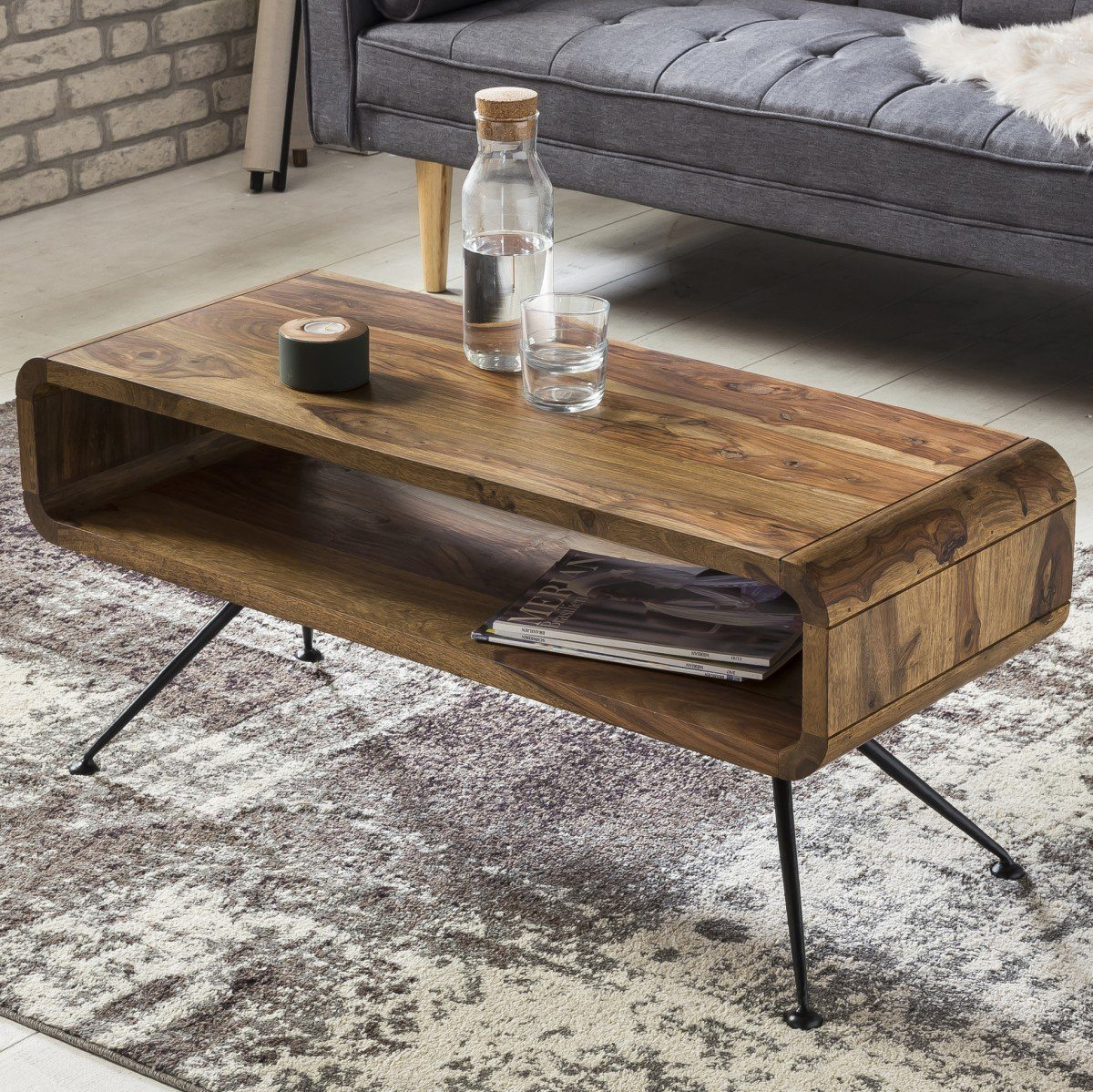 Buy Solid Wood Curved Rocket Coffee Table Online  New