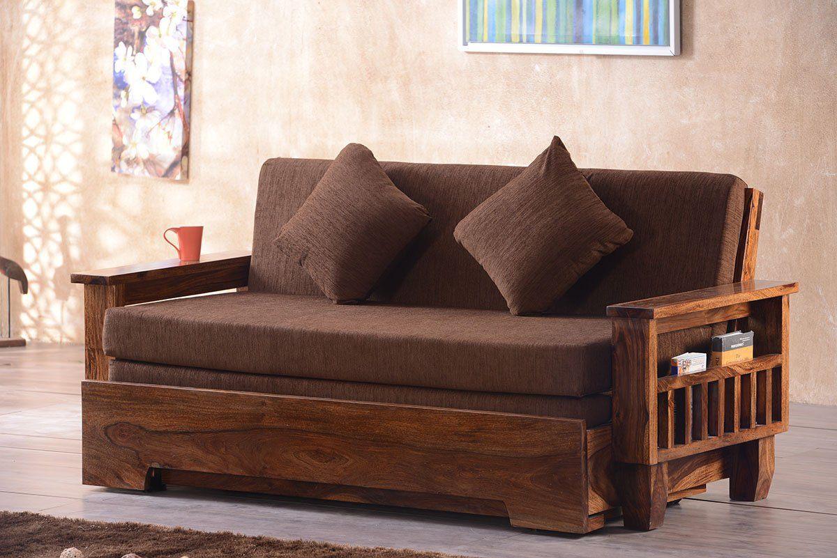 Buy Solid Wood Jodhpur Sofa Cum Bed Online In India