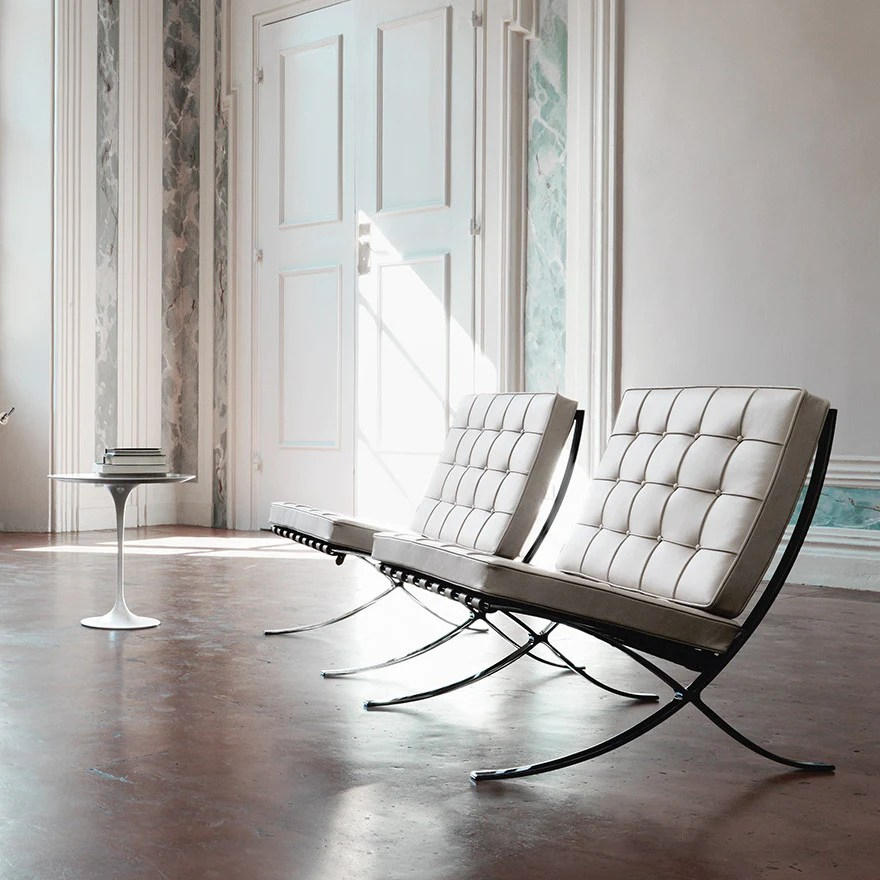mies van der rohe barcelona chair bar stool rung protectors knoll ludwig lounge alteriors