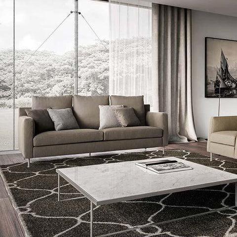 eames sofa compact brown corduroy sleeper living | alteriors