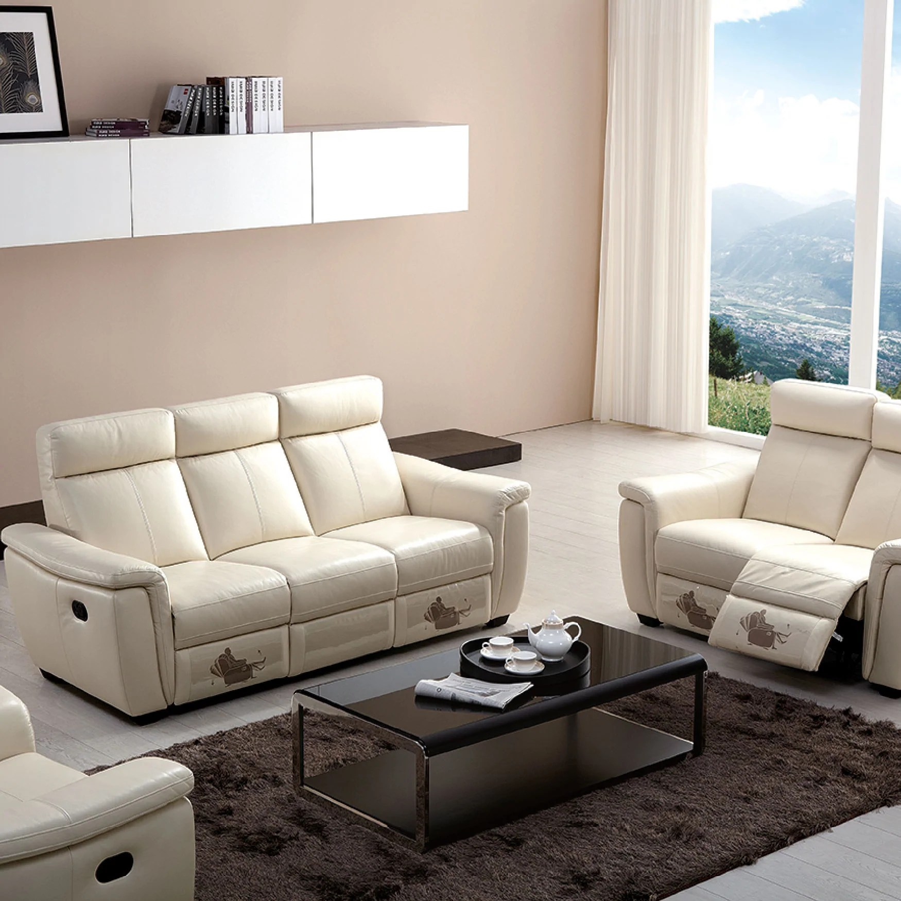 dunham reclining sofa brown leather what colour carpet how to move a recliner review home co