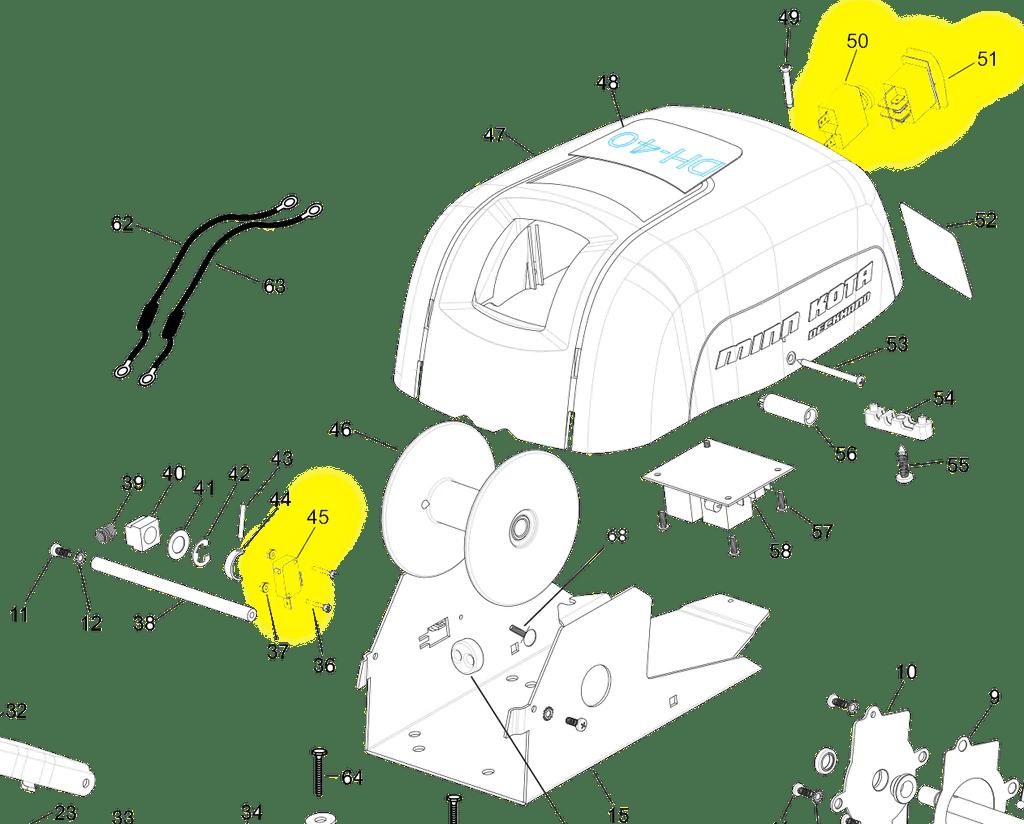 hight resolution of  minn kota deck hand 40 switch kit dh40swkit