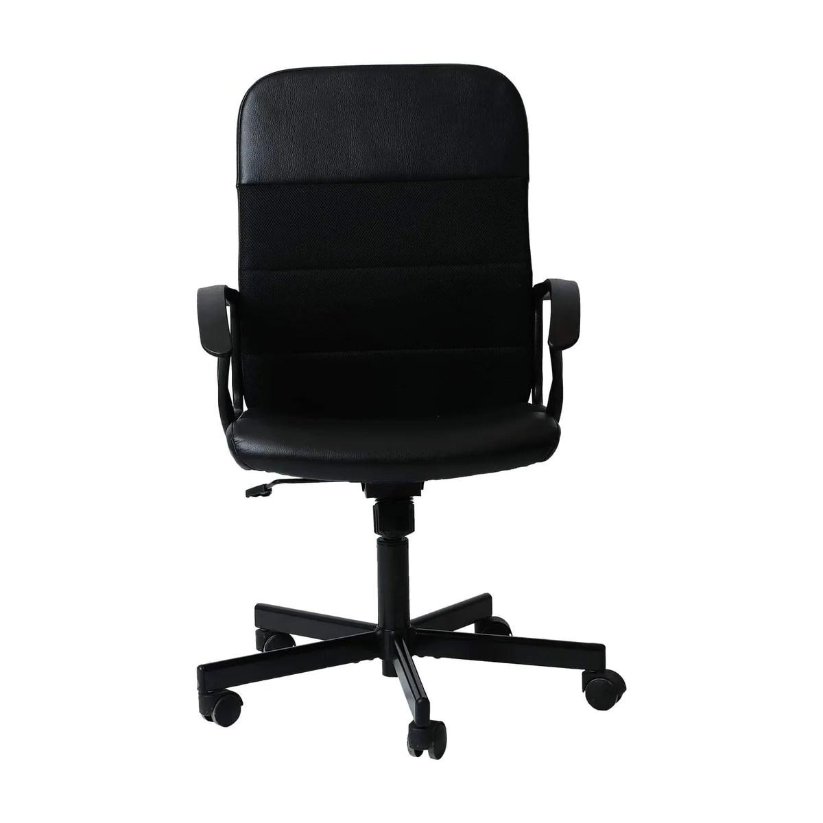 chaise de bureau ikea occasion noir avec accoudoir