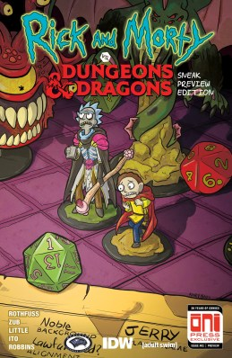 Rick and Morty Dungeons & Dragons #1 Sneak Preview Cover