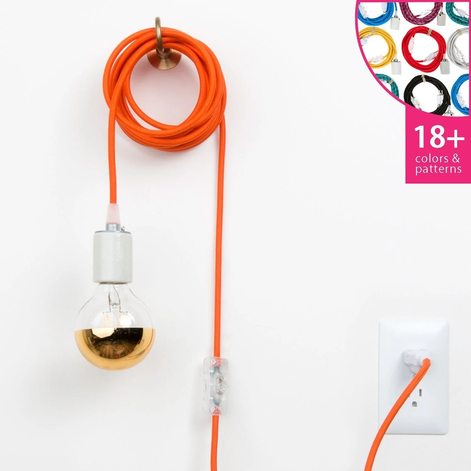 hight resolution of plug in pendant light cord set porcelain