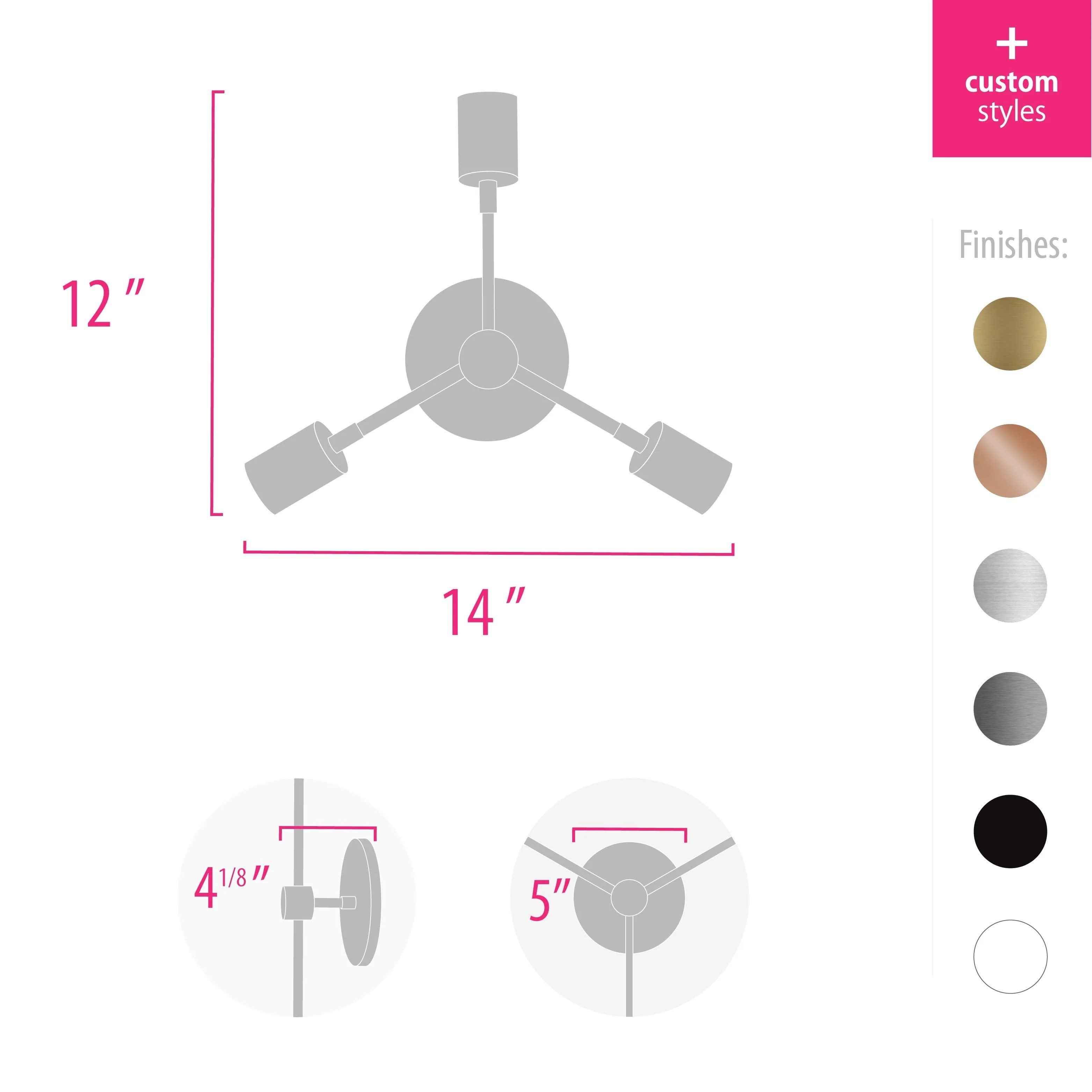 hight resolution of trio wall sconce