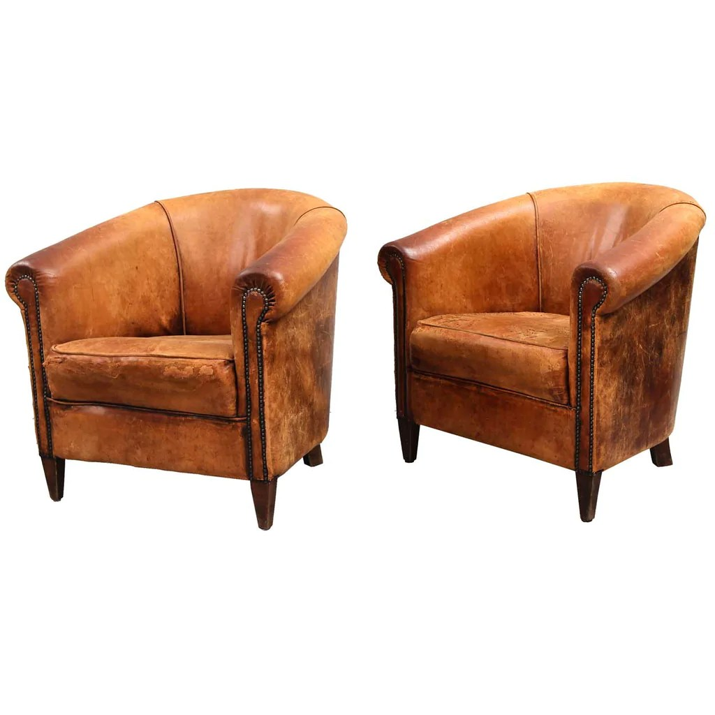 tub chair brown leather slipcovers for club chairs pair of danish