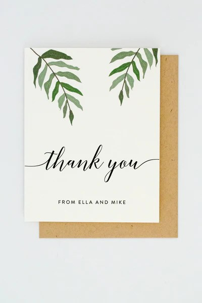 Ella Suite Thank You Card With Names – JP Stationery