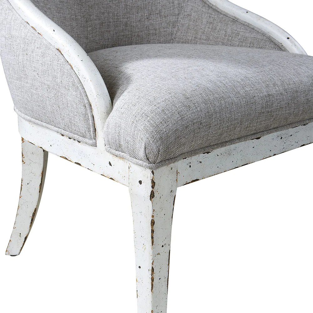 White Wing Chair High Back Wing Chair Distressed White