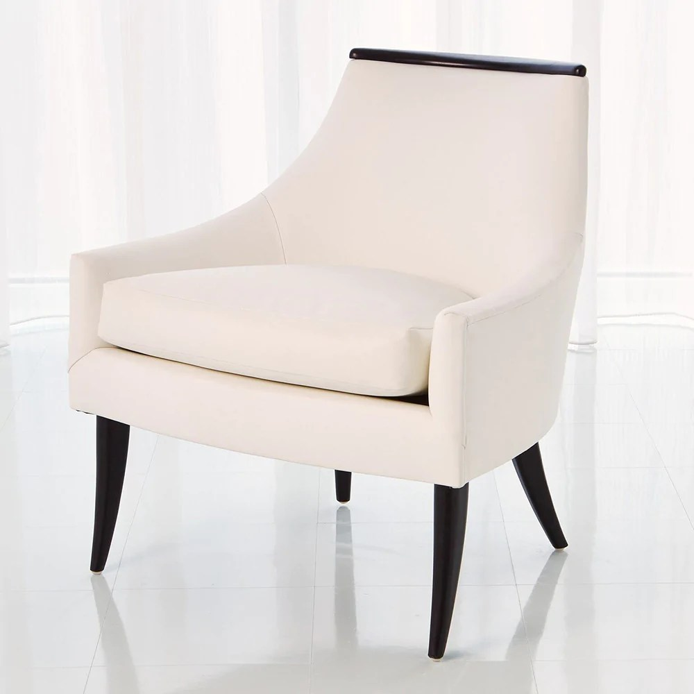 Curved Back Chair Curved Back Chair White Leather