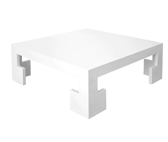 worlds away kaplan square coffee table white lacquer linen