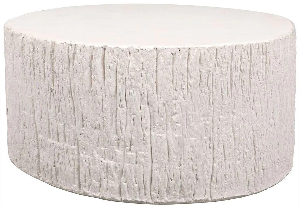 trunk coffee table white fiber cement
