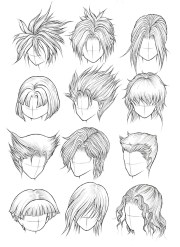 draw hair part 2 manga